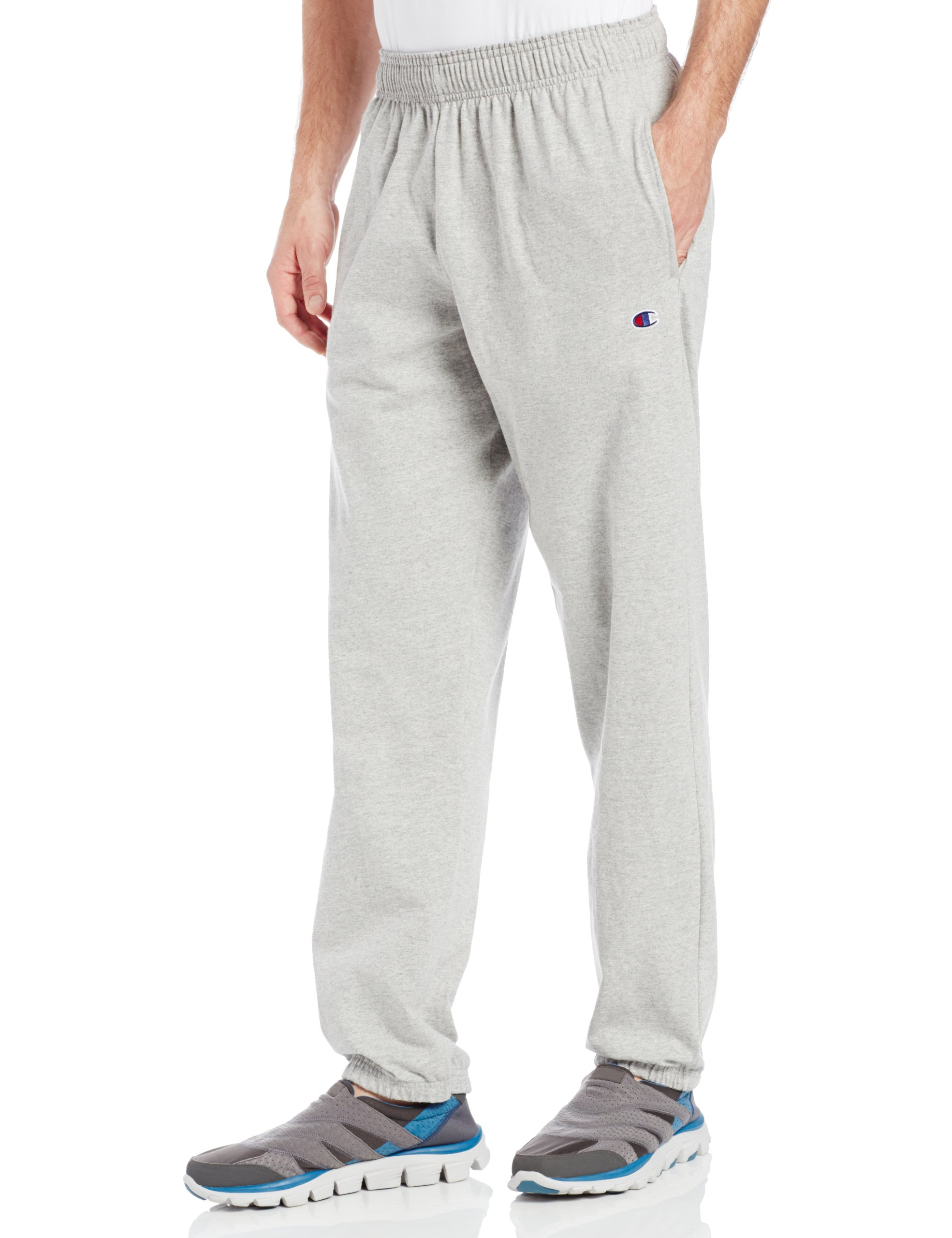 Champion Men's Closed Bottom Light Weight Jersey Sweatpant, Oxford Grey, XX-Large by Champion