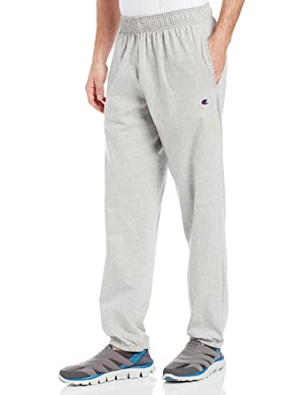 0264a29eae08 Champion Men's Closed Bottom Light Weight Jersey Sweatpant, Oxford Grey,  Small
