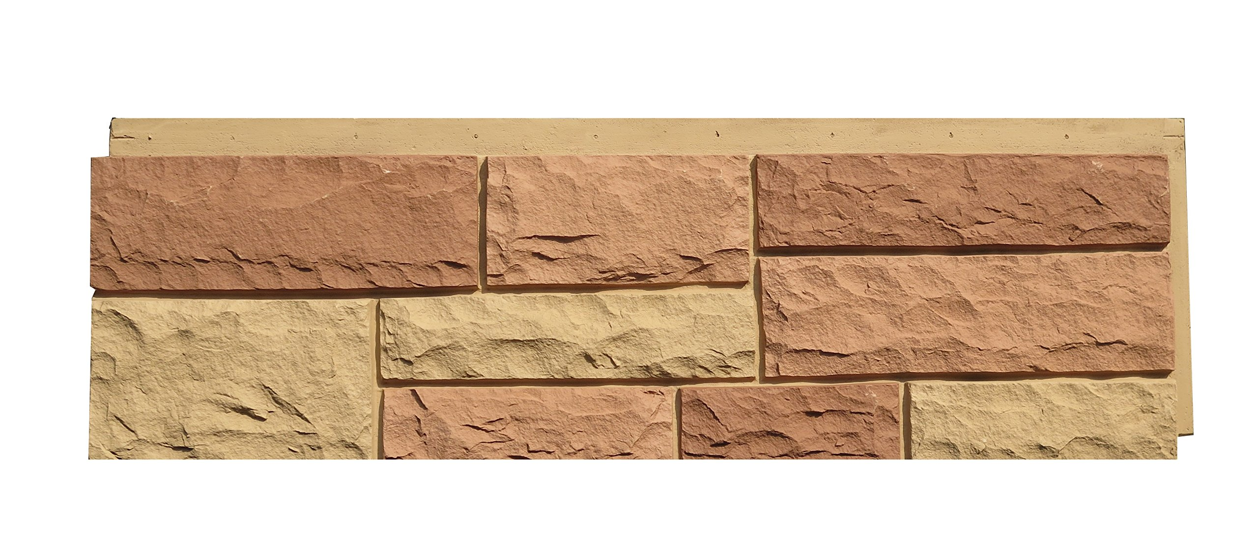 NextStone 6NPTS1 Random Rock Indoor/Outdoor Siding Panel 4-Pack, Tri-Sedona Red