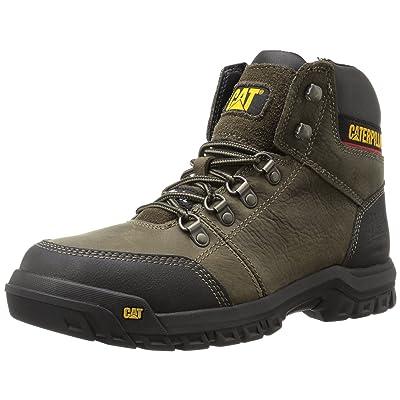 Caterpillar Men's Outline Steel Toe Work Boot, Dark Gull Grey, 11.5 W US: Shoes