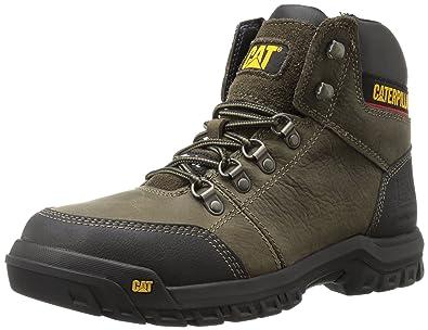 b4372e8fece Caterpillar Men's Outline Steel Toe Work Boot, Dark Gull Grey, 12 W US