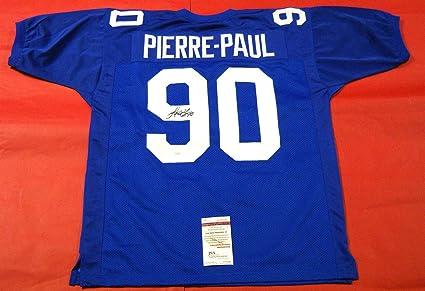 sale retailer f2743 1be27 JASON PIERRE-PAUL AUTOGRAPHED NEW YORK GIANTS JERSEY JSA JPP ...