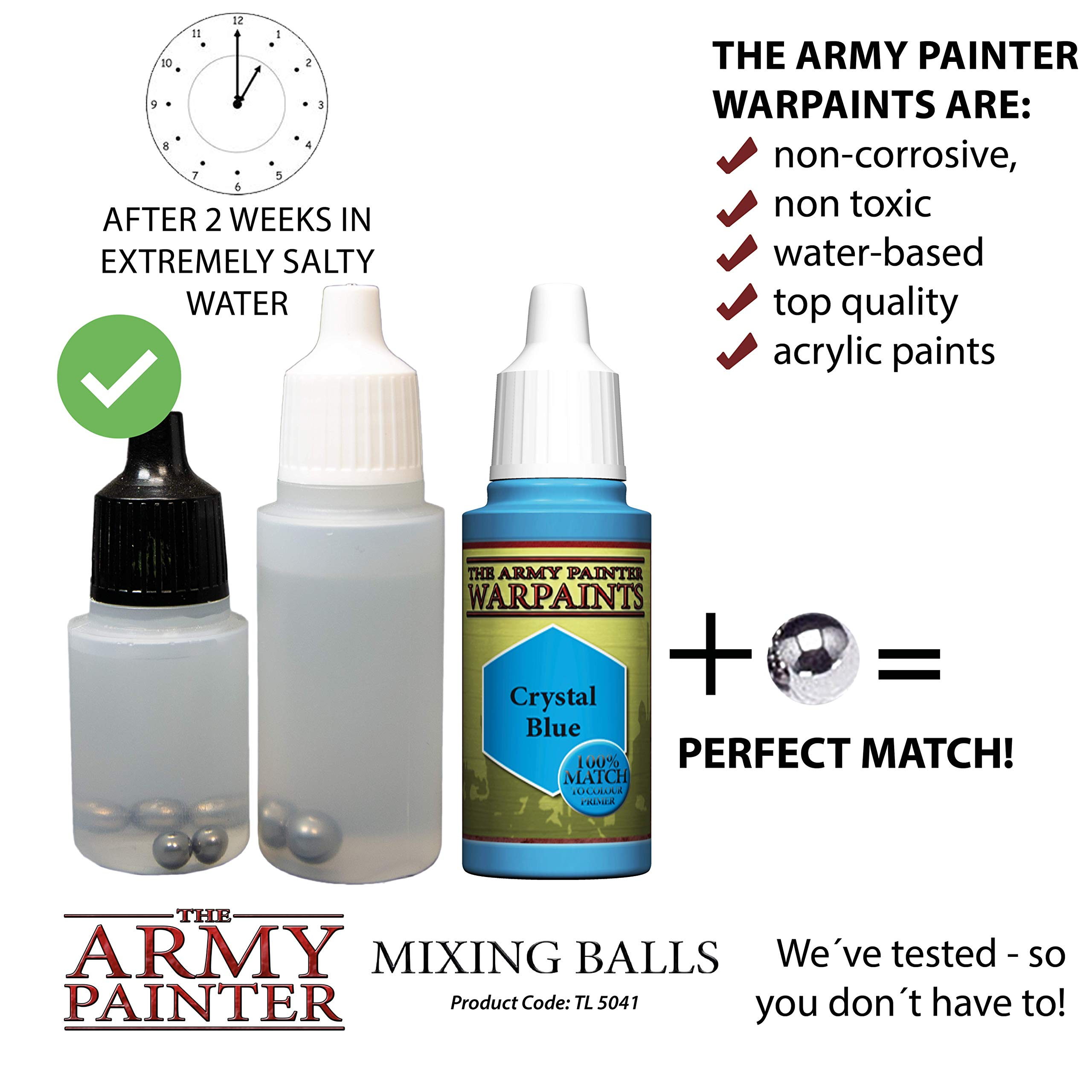The Army Painter Paint Mixing Balls - Rust-proof Stainless Steel Balls for Mixing Model Paints - Stainless Steel Mixing Agitator Balls, 5.5mm/apr. 0.22'', 100 Pcs by The Army Painter (Image #6)