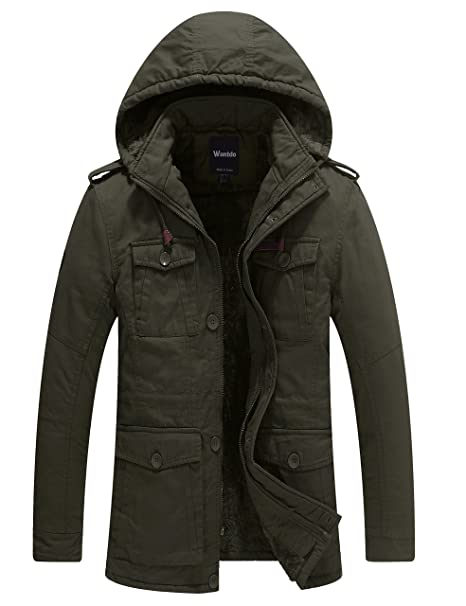 e34aa73a5 Wantdo Men's Winter Thicken Puffer Coat with Removable Hood Jacket
