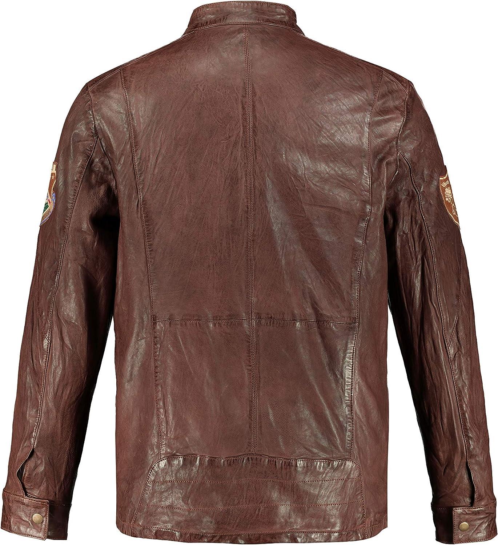 JP 1880 Mens Big /& Tall Vintage Look Leather Jacket 720239