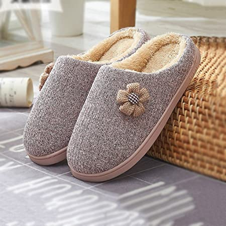 644814b00238 Female cotton slippers autumn and winter cute warm thick bottom hairy  slippers home shoes ( Color   Pink