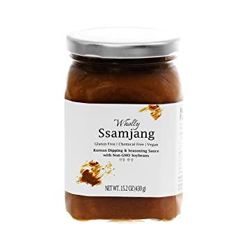 Wholly Ssamjang, Premium Gluten-free Vegan Unpasteurized Artisanal Korean Dipping & Seasoning Sauce with