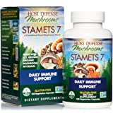 Host Defense, Stamets 7 Capsules, Daily Immune Support, Mushroom Supplement with Lion's Mane, Reishi, Vegan, Organic, 120 Cap