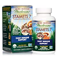Host Defense, Stamets 7 Capsules, Daily Immune Support, Mushroom Supplement with...