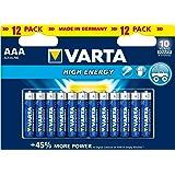 VARTA Alkaline AAA Size (LR03) Long Lasting Batteries 1.5V - 12 Pack