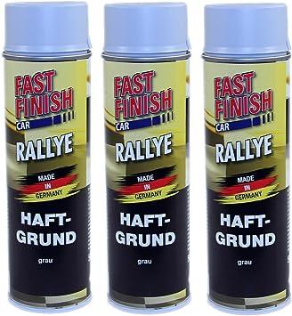 3x 500ml Fast Finish Rallye Haftgrund Grundierung Grau Spraydose Spray Auto Lack Baumarkt