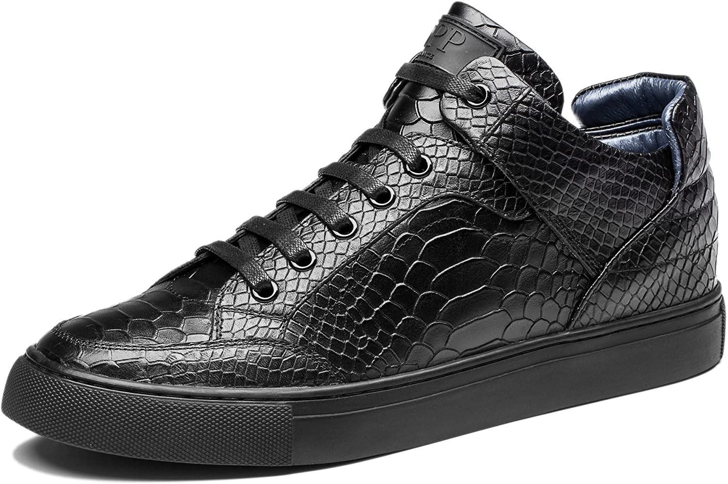 OPP Mens Leather High Top Trainers
