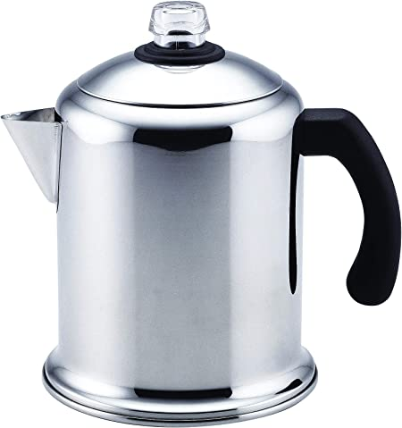Farberware 50124 Classic Stainless Steel Yosemite 8-Cup Coffee Stovetop Percolator
