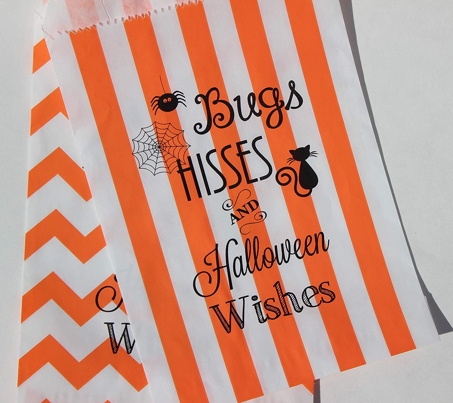 Spooky Favours//Party Bag Fillers BLACK FOILED HALLOWEEN TEMPORARY TATTOOS x 16