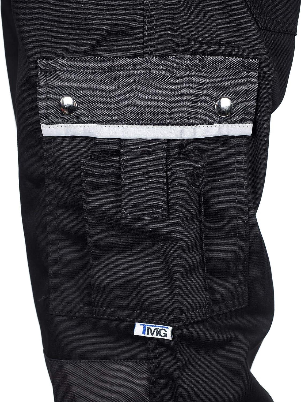 Tute da Lavoro Uomo con Tasche per Ginocchiere Molti Colori e Taglie TMG/® Pantaloni da Lavoro Uomo Resistente