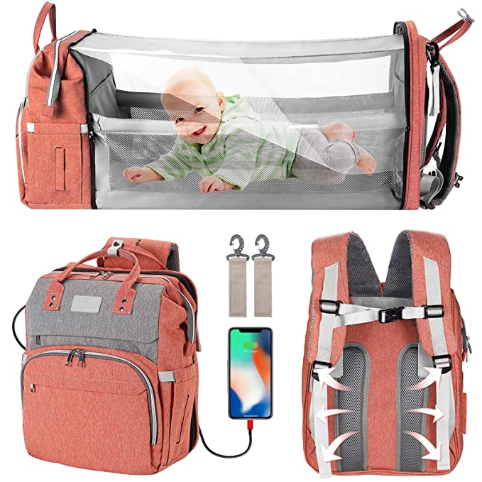 linen maternal bag coats waterproof impervious bag lives curry Backpack child
