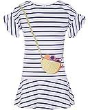 NAUTICA Girls' Short Sleeve Tee Shirt Dress