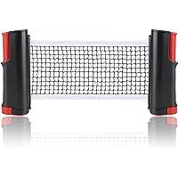 INMHMING Red de Tenis de Mesa,Repuesto Portátil Retráctil Table Tennis Net,para Entrenamiento Abrazaderas, Longitud…