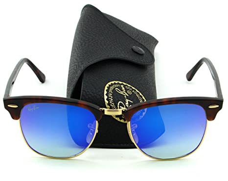 f881f47d1d824 ... where to buy ray ban rb3016 clubmaster flash gradient series unisex  sunglasses red havana frame blue