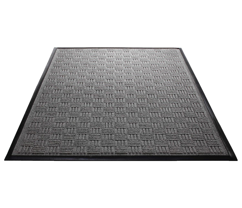 Water Guard Brick Pattern Grey Rubber Reinforced Ridges Withstand High Traffic Guardian WGB030510 3 x 5 Indoor//Outdoor Wiper Scraper Floor Mat