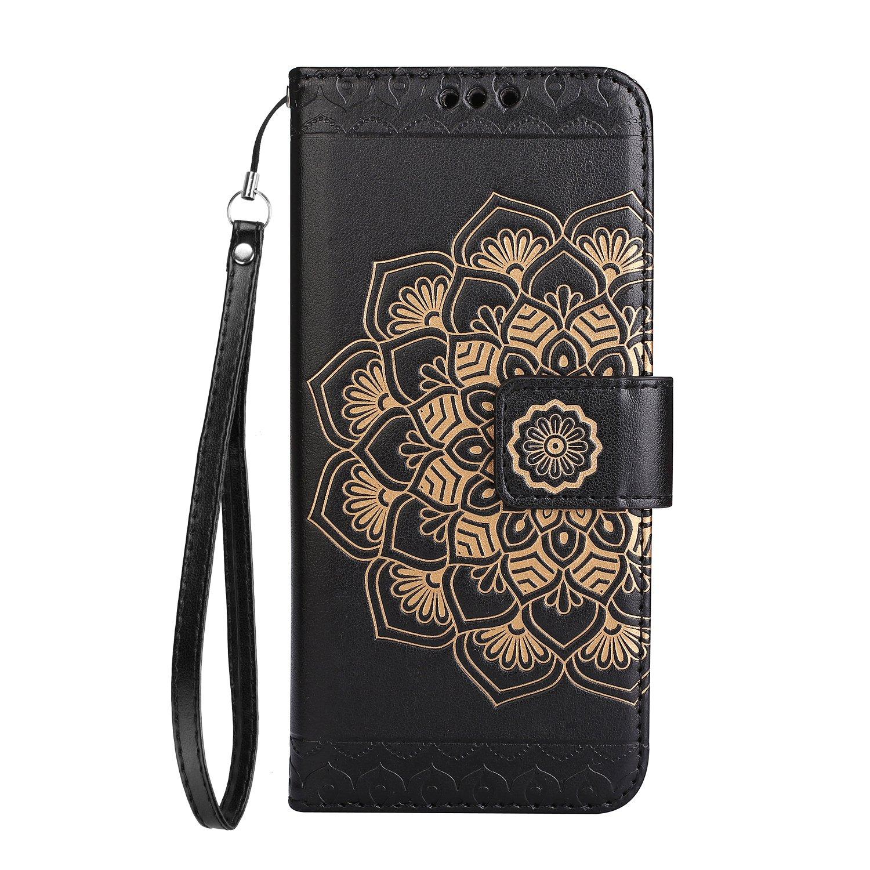 2017 A720 Etui en Cuir de Premi/ère Qualit/é 2017 Housse Coque pour Samsung Galaxy A7 A720-Noir BONROY Coque Samsung Galaxy A7