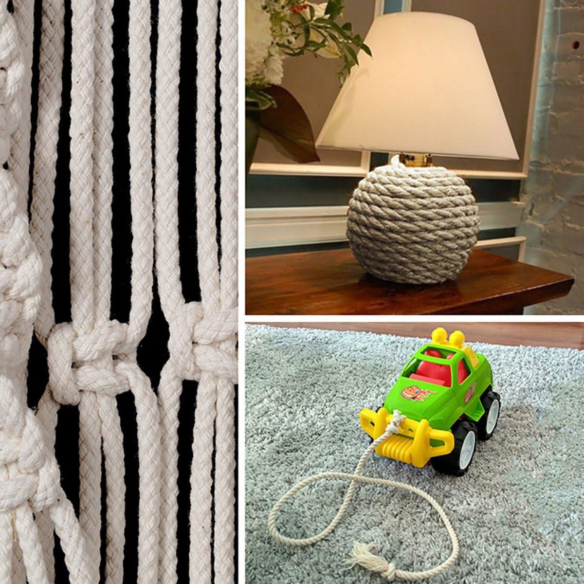 Seilwerk STANKE 30 m Corde de coton 10 mm fibres naturelles torsad/é /à la main gr/éement