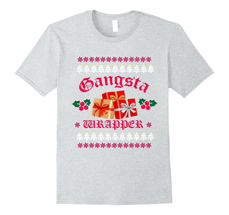 eb8102e9 Gangsta Wrapper Christmas T-Shirt Gift Funny Gangster Rapper-ANZ ...