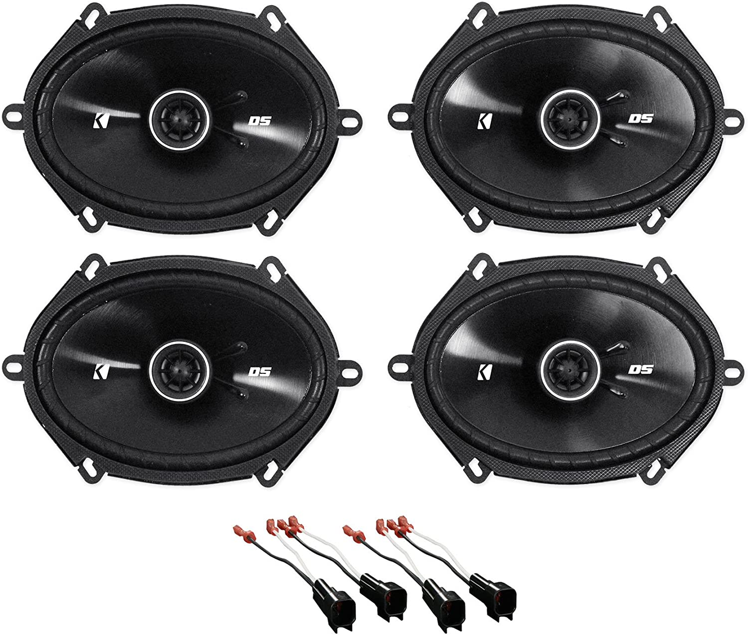 Amazon Com Kicker 6x8 Front Rear Factory Speaker Replacement Kit For 2004 2006 Ford F 150 Car Electronics