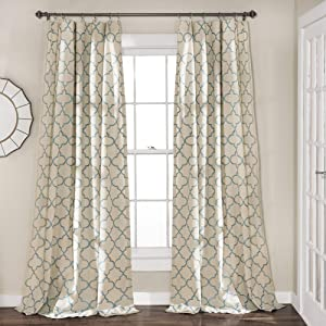 Lush Decor Geo Window Curtain Panel Pair, 84
