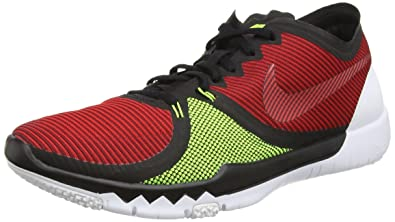new concept 57084 e619b Nike Mens Free Trainer 3.0 V4 Running Shoes (Red, Black, Volt) Sz