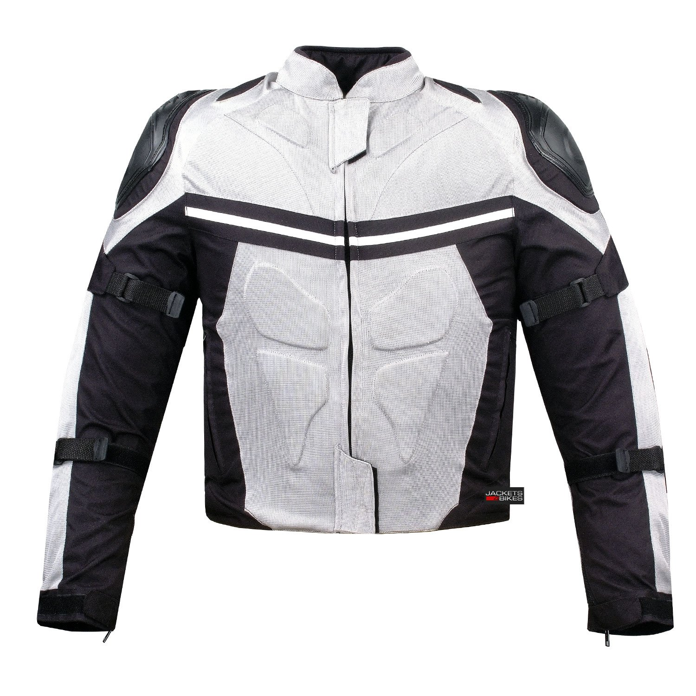 PRO MESH MOTORCYCLE JACKET RAIN WATERPROOF WHITE S