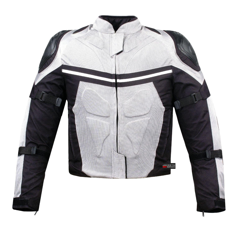 PRO MESH MOTORCYCLE JACKET RAIN WATERPROOF WHITE M by Jackets 4 Bikes (Image #2)