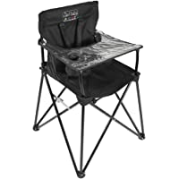 ciao! baby Portable High Chair for Babies and Toddlers, Fold Up Outdoor Travel Seat with Tray and Carry Bag for Camping…