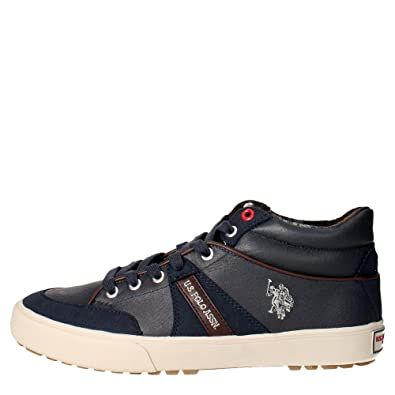 U.s. Polo Assn COMET4163S6/LS1 Sneakers Man Leather Blue Blue 44