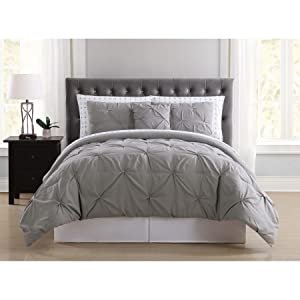 Truly Soft Everyday BIB1969GYQAR-32 Pleated Bed in a Bag, Queen, Arrow Grey