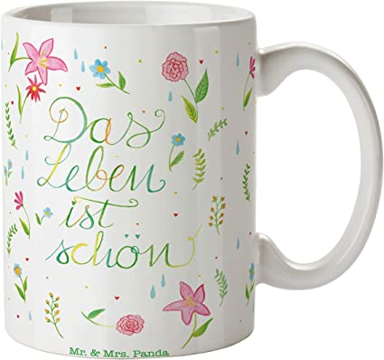 Mr. & Mrs. Panda Tee, Teetasse, Tasse Blumen Das Leben ist