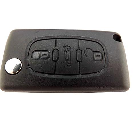 Amazon.com: Para Peugeot 207 307 407 308 607 3 Botón Fob ...