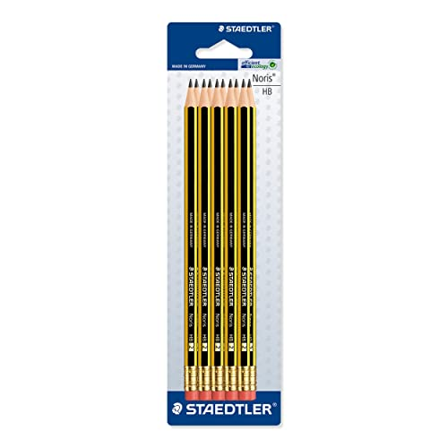 Staedtler Noris 120 HB Pencil with Eraser Tip, Double Stacked, Pack of 10
