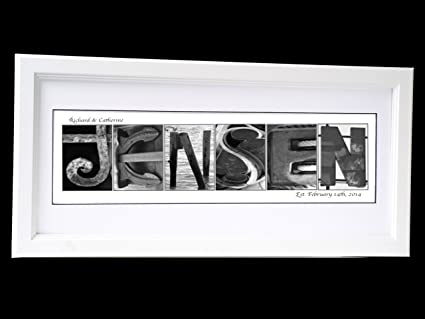 Amazon.com: Creative Letter Art Personalized 12 by 26 inch Framed