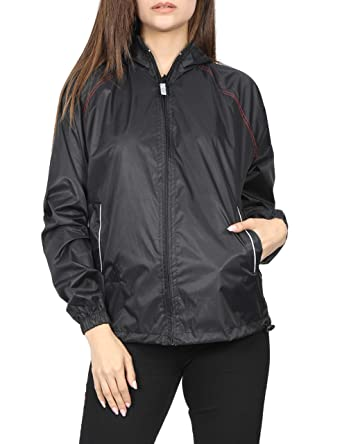 3bd37466d VERSATYL Women's Feather Jacket 2.0 Water Proof Jackets & Wind Cheater  (Small) | Black