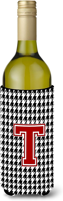 Houndstooth 黒文字 A モノグラム イニシャル ロングネック ビール飲料 断熱ジッパー ハガー Longneck with zipper マルチカラー CJ1021-L-BOTTLE