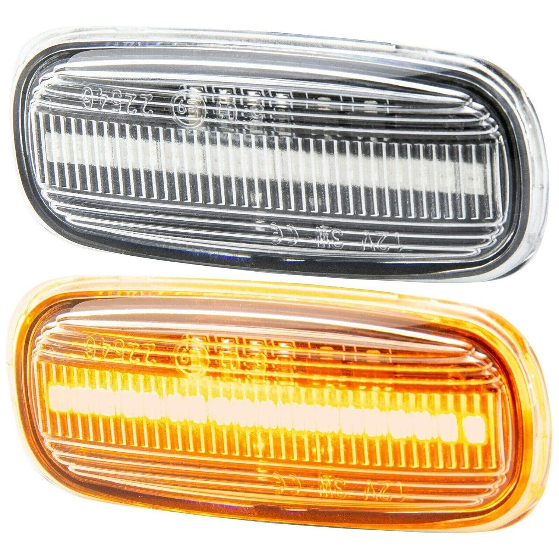 A8 4D A2 8Z A3 RM-Style 7316 Indicatore di direzione LED Compatibile con Audi TT 8N A6 C5 Vetro Trasparente A4 8L 8D