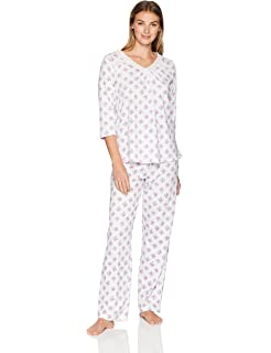 Carole Hochman Women s L s Pj Set Vintage Rosebud at Amazon Women s ... e07eb0cc6