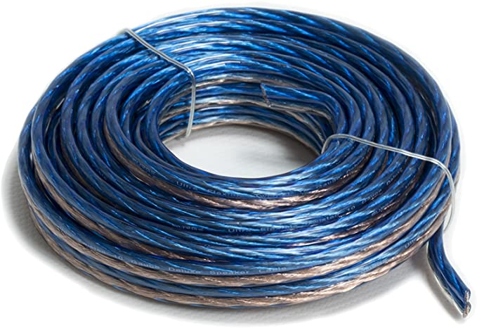 AT-SPW18GA//100B 100 Feet Blue Audiotek Car Vehicle 18 Gauge Speaker Wire
