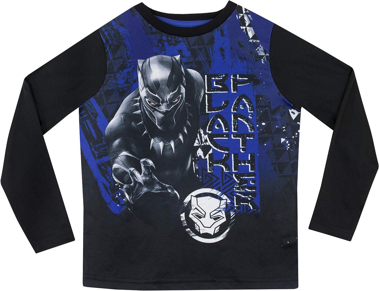 Marvel Pijamas de Manga Larga para ni/ños Black Panther