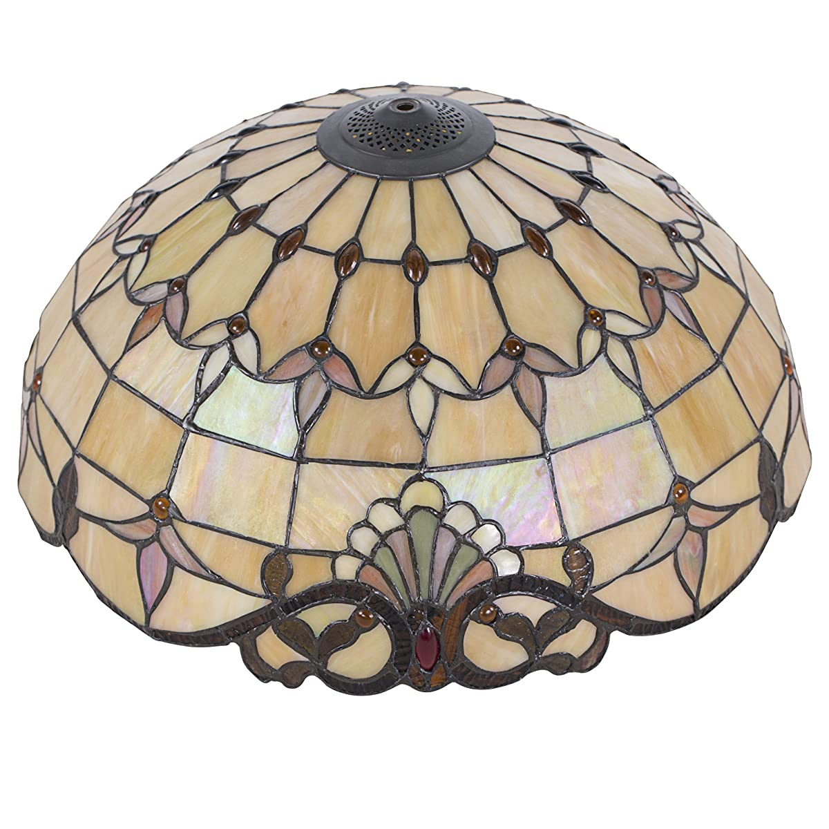 """Cloud Mountain Tiffany Style 20"""" Lampshade Floor Lamp Victorian Double Lit Lamp Home Decor Stained Glass Lighting"""