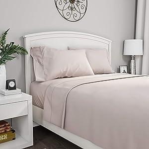 Lavish Home 66-MF75S-TXL-BON 1200 Sheet Series, Twin X-Large, Bone, Extra Long