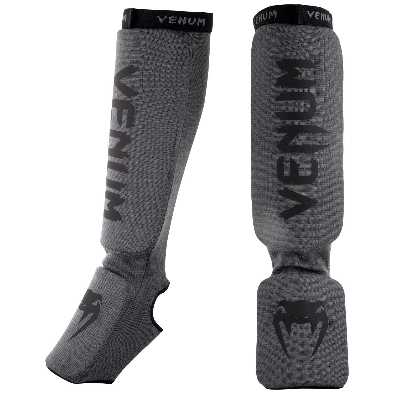 Venum Kontact Shinguards Kontact Shinguards-Grey/Black, Grey/Black, One Size