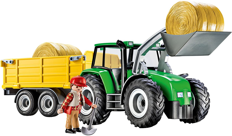 Majorette 212053154-tráiler assortment-Fendt 939 tractor con remolque-nuevo
