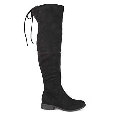 Amazon.com | Brinley Co. Womens Faux Suede Over-the-knee Boots ...